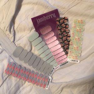 Lot of 6 Jamberry Nail Wraps
